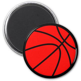 Red Basketball Magnet