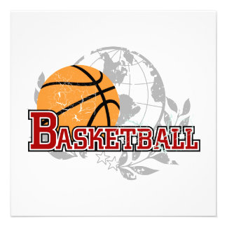Red Basketball T-shirts and Gifts Invite