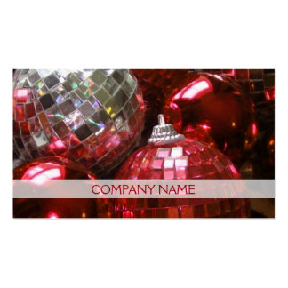 Red Baubles business card front text