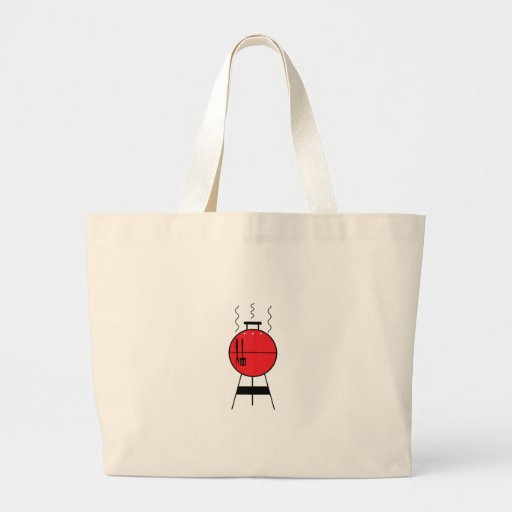 Red BBQ Grill Canvas Bag