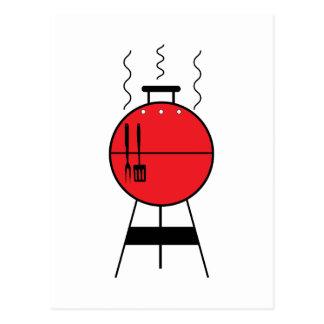 Red BBQ Grill Postcard