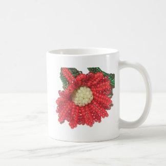 Red Beaded Trumpet Flower Mugs