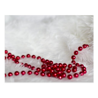 Red beads | postcard