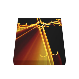 Red Beams On A Cross Canvas Prints