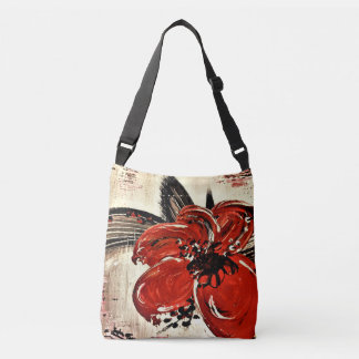 RED BEAUTY All-Over-Print Cross Body Bag