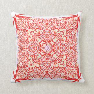 Red beauty square mandala cushion