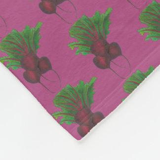 Red Beet Bunch Vegetable Vegetarian Gardening Food Fleece Blanket