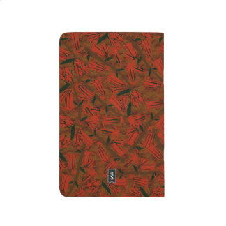 Red Bell Blossoms Decorative Designer Journal