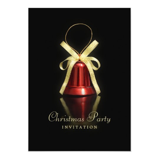 Red Bell Christmas Party invitation