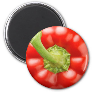 Red bell pepper 6 cm round magnet