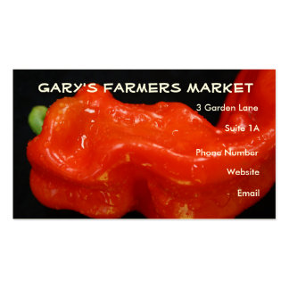 Red Bell Pepper Business Card Template