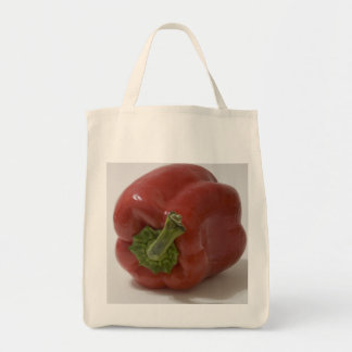 Red Bell Pepper Grocery Tote Bag