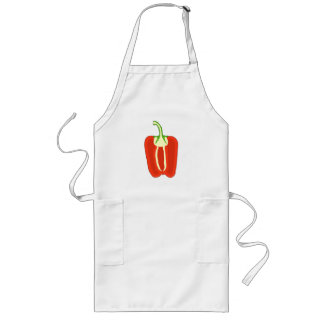 Red Bell Pepper Half. Capsicum. Long Apron