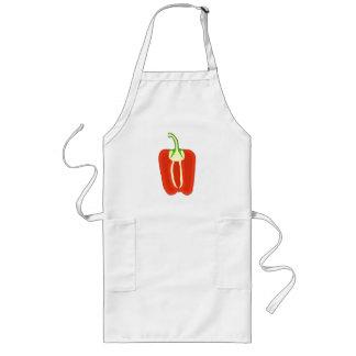 Red Bell Pepper Half. Capsicum. Long Apron