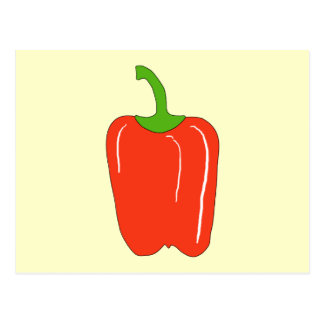 Red Bell Pepper. Whole. Postcard