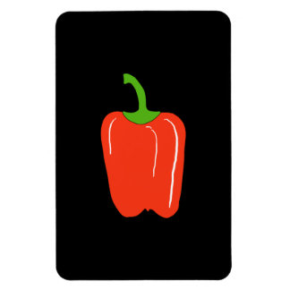 Red Bell Pepper. Whole. Rectangular Photo Magnet