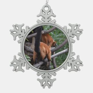 Red Bellied Lemur Butt walking Ornament
