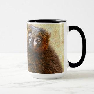 Red bellied lemurs mug