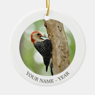 Red-Bellied Woodpecker Round Ceramic Decoration
