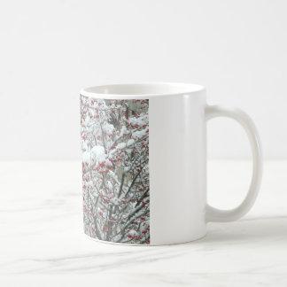 Red Berries and Snow Basic White Mug