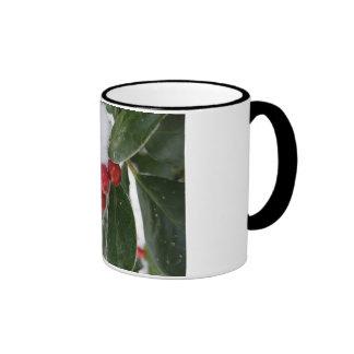 red berries and winter mug
