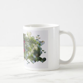 Red Berries with Hearts Classic White Coffee Mug