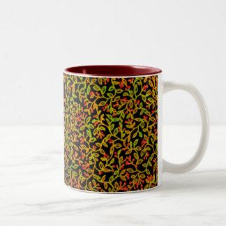Red Berry Vines Mug