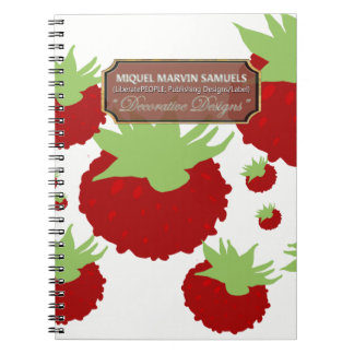 Red Berry White Food Decorative Modern Notebook