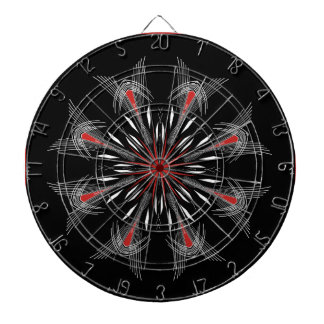 Red Between the Lines Dartboard