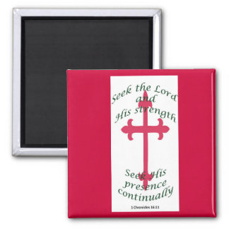 Red bible verse magnet