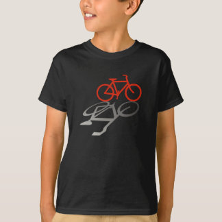 Red Bicycle and Shadow. T-shirts