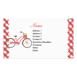 Red Bicycle Business Card