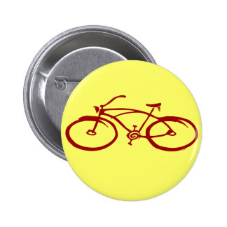 Red Bicycle Button