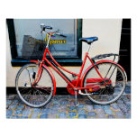 Red Bicycle, Copenhagen, Denmark Poster