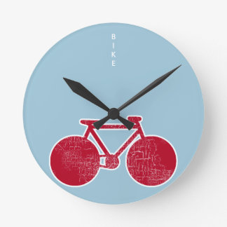 red Bicycle Round Clock