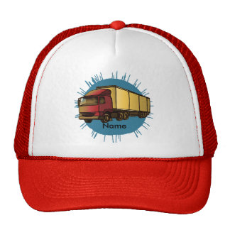 Red Big Rig Truck Mesh Hat