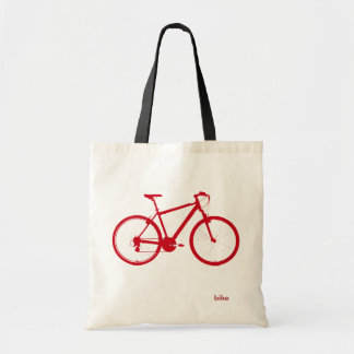 red bike, cycling tote bag