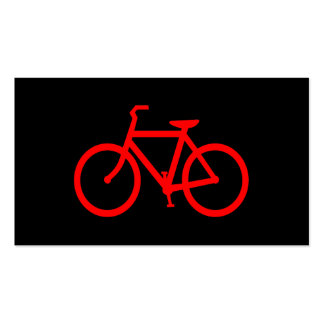 Red Bike Pack Of Standard Business Cards