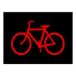 Red Bike Poster