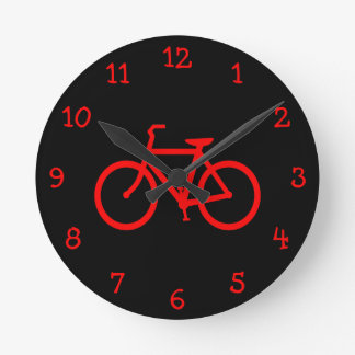 Red Bike Round Clock