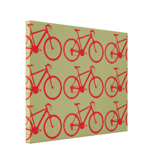 red bikes decor walls canvas prints