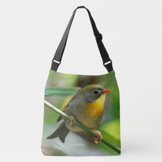 Red-Billed Leiothrix / Pekin Robin Crossbody Bag