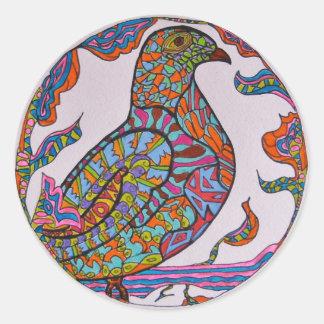 Red-billed Pigeon Round Sticker