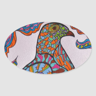 Red-billed Pigeon Oval Stickers