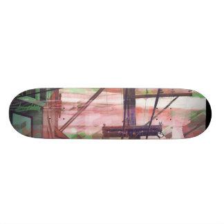 Red Binary Fog Skate Deck
