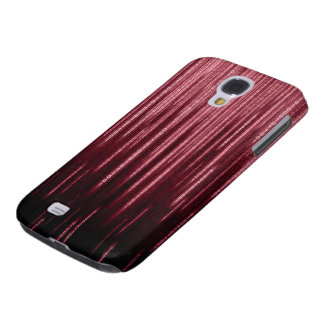 Red Binary Rain Samsung Galaxy S4 Case