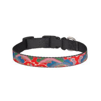 Red Bingata Dog Collar
