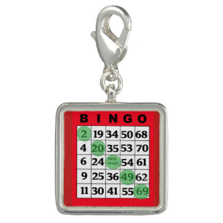 Red BINGO Card Lucky Charm