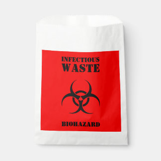Red BIOHAZARD Infectious Waste Trick Or Treat Bags