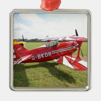 Red Biplane Christmas Ornament